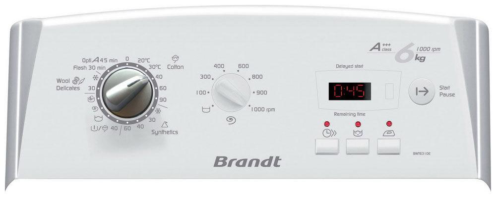 Коды ошибок стиральной машины Brandt