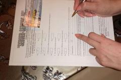Заполнение клиентом опросного листа
